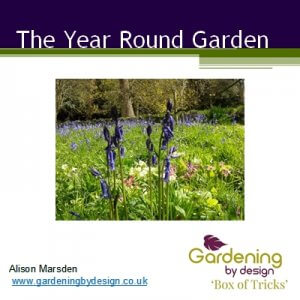 Image of the year round garden