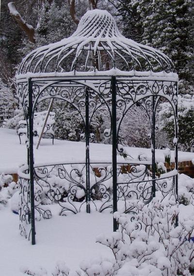 Snowy gazebo